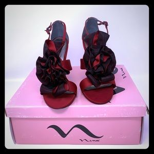 NINA LADIES HEEL SANDALS